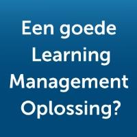 Een goede learning management oplossing