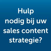 Hulp nodig bij uw salescontent strategie?